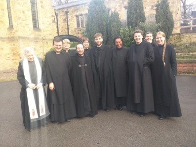Fr John and students